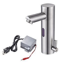 Sensor Motion Faucet Touchless Bathroom Sink Faucet Mixer Tap Brushed Nickel