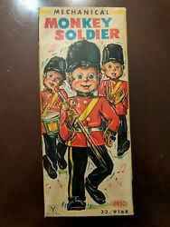 Vintage Toy Sonsco Mechanical Monkey Soldier