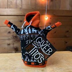 Tito's Vodka Coozie - Knit Hooded Sweatshirt - Collectible - Fits 750ml Bottle