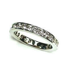 1.30cts Round Cut Diamond Channel Set Eternity Band Ring 14k Gold Size 6.25