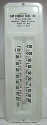 Ray Funeral Home North Carolina Old Tin Thermometer Sign Made In Usa