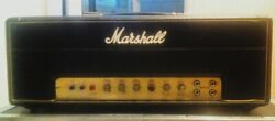 '74 Red Rhodes Modded Marshall Jmp 50 Watt Head. The Last One He Completed.