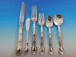 French Scroll By Alvin Sterling Silver Flatware Set Service 36 Pieces Dinner