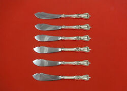 Old Colonial By Towle Sterling Silver Trout Knife Set 6pc. Hhws Custom 7 1/2