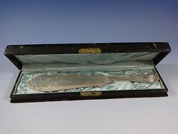 Moresque By Wendt Sterling Silver Serrated Cake Knife In Original Fitted Box