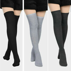 Women Soft Winter Cable Knit Over knee Long Boot Warm Thigh High Socks Fashion $5.85