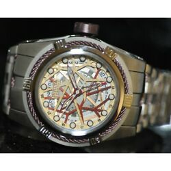 Menand039s Rare Bolt Zeus Swiss Reserve Automatic Stainless Steel Watch 12945