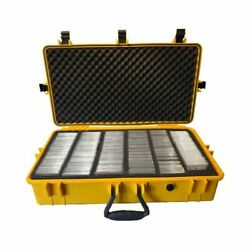 Xxl Graded Card Storage Box Yellow Weatherproof Case Slab Holder And Protector