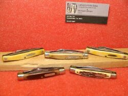 Schrade Walden Ny Usa--1970-80 Group 5 Stockman 3 1/4 Old Timer Uncle Henry