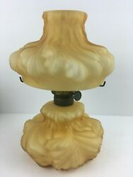 Consolidated Glass Co. Plume Miniature Oil Lamp