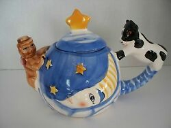 Nursery Rhyme Cow Jumped Over The Moon Theme Teapot Cat Children Mini Child