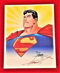 Superman The Man Of Steel Print Signed By Artist George Perez