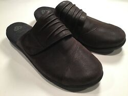CLOUDSTEPPERS BY CLARKS SLIP ON SHOES MULES SILLIAN RHODES Brown 8.5