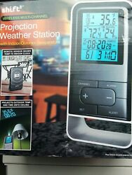 Wireless Projection Weather Station with Alarm Clock