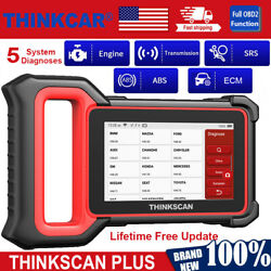 Thinkscan Plus Obd2 Scanner Engine Abs Srs Diagnostic Scan Immo Tpms Reset Tool