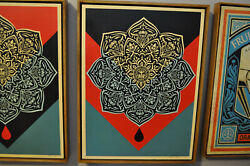Shepard Fairey - Oil Drop Mandala - Fine Art - Wood Edition - Rare AP