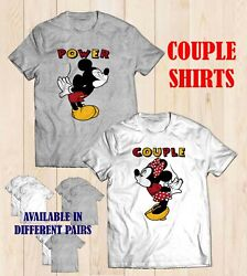 Couple Tshirt Mickey Minnie Power Couple 1 Set 2 Tees Valentines Gift Unisex