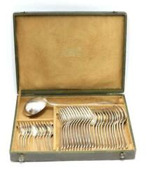 Christofle Alfinade Seriese Set Of 37 Silver Plate Cutlery From Japan F/s