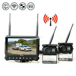 Wireless Rear View Backup Camera Night Vision System + 7 Monitor For Rv Truck