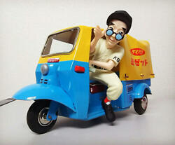 Daihatsu Midget Dka Model Tin Toy With Figure Vintage From Japan Free Shipping