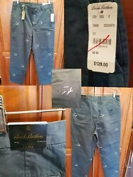 Nwt Brooks Brothers Clark 33x30 Green Garment Dyed Seagull Critter Pants Chinos