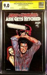 Army Of Darkness Ash Gets Hitched 1 Cgc Ss 9.0 Original Art Sketch Evil Dead