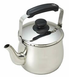 Erumasu stainless steel wide-mouth kettle 2.5L H-2041 japan