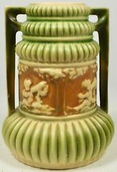 Hard To Find Roseville Pottery Donatello 6 1/2 Two Handled Vase Circa 1915