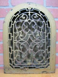 Antique Tombstone Grate Vent Pat Pend Ornate Victorian Architectural Hardware