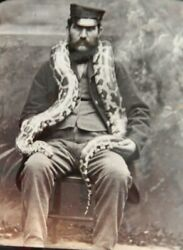 Boa Constrictor Victorian Photograph Circa1880 + Zoo Keeper Snake Herpetoculture