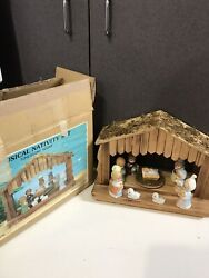 House Of Lloyd Musical Nativity Set W Figures And Box Baby Jesus
