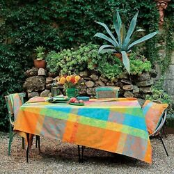 Garnier-thiebaut, Mille India Festival French Jacquard Tablecloths, Coated And Non