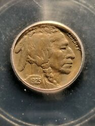 1925-s Rare Two Feathers Fs-401 Buffalo Nickel Icg Au-50, Extremely Rare