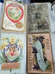 Price Drop Lot Of 231 Vintage Holiday Postcards Lot 1904-1949