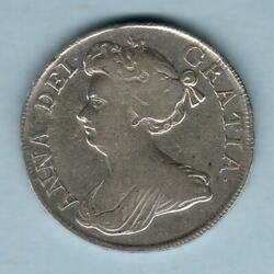 Great Britain. 1712 Queen Anne - Halfcrown.. Roses And Plumes.. Avf..