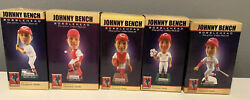 Johnny Bench Bobblehead Complete Set Reds Hall Of Fame 5 B E N C H