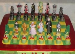 Rare Star Jar Wizard Of Oz Chess Cookie Jar S And P Complete Set