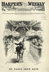 1904 Democratic Contenders Populists Vs Independents Choices Wa Rogers Old Print