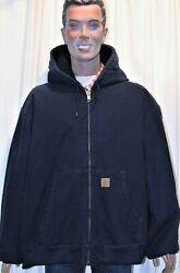 Blouson Work Jacket Andagrave Capuche Bleu Marine Taille 4xl Us Made In Mexico