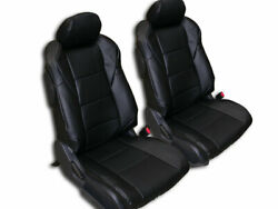 NISSAN 350Z 2003 2006 BLACK IGGEE S.LEATHER CUSTOM MADE FIT SEAT COVERS $149.00