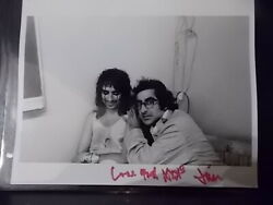 Rare Photo Of Alice Cooper And Jim Marshall Signed And Stamped By Jim Marshall