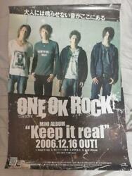 One Ok Rock Keep It Real Novelty Poster Indie Era 06 Genuine Rare F/s From Japan