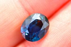 A Natural Unheated 3.14ct Oval Blue Sapphire With Lab Certificate