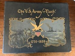 1899 1sted United States Army And Navy Revolution Civil War Of 1812 Color Plates