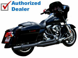 Black Thunderheader 2 Into 1 Exhaust System Pipe System 2017-2021 Harley Touring