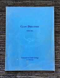 Rare Vintage 1960-1961 Air University Command And Staff College Class Directory