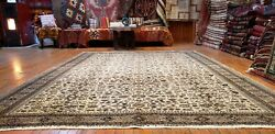 Exquisite Late 1930and039s Antique Wool Pile Hereke Area Rug 8x11ft