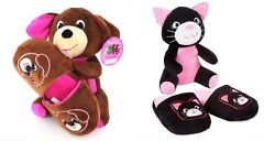 Plush Stuffed Animal & Slippers Set ~ Pick Your Size & Style ~ New With Tags $9.95