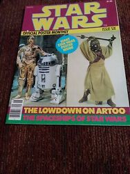 Star Wars Official Poster Monthly Issue Six 1977 Nm Condition R2d2 C3po