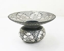 Betel Nut Spitting Bowl Silver Koftgari Hand Worked Antique Old Metal Us759ah